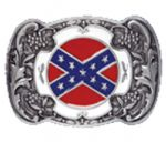 Rebel Flag Belt Buckle with display stand. Product code WB5